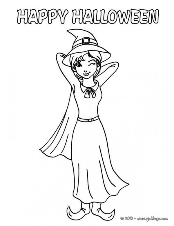 Brujas De Halloween Dibujos Para Imprimir Y Colorear