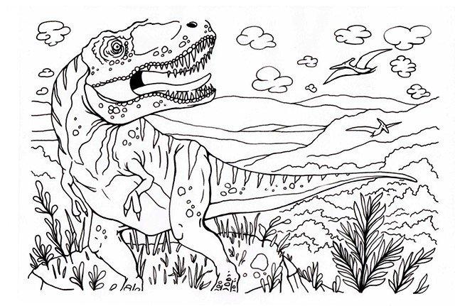 Infantil Dibujo De Dinosaurio Para Pintar Novocom Top Cuando pensamos en la era de los dinosaurios sabemos que fue hace mucho tiempo atrás, pero… ¿en qué época vivieron los dinosaurios? infantil dibujo de dinosaurio para