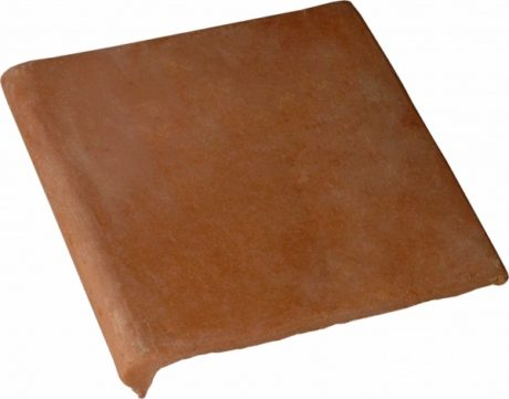 double bullnose 12x12 stair tread handcrafted lincoln red terra cotta saltillo floor tile