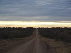 Ein trüber Start ein einen neuen Tag in der argentinischen Pampa