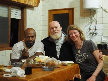 Mit Padre Pablo und Padre Juan. Vielen Dank euch beiden!