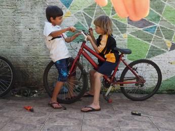 In der Casa finden auch Rad–Kurse für Kinder statt