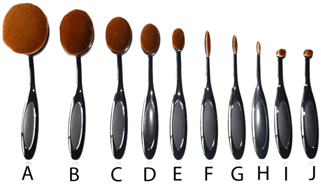 Makeup Brush Set Oval Brush