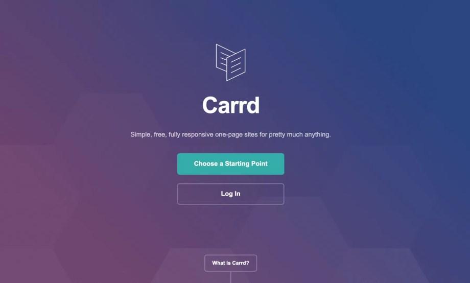 『Carrd』のスクリーンショット1