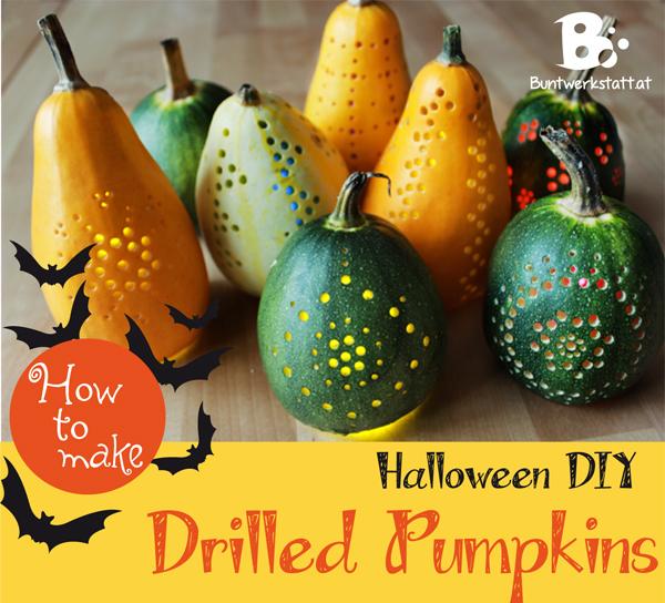 Drilled Halloween Pumpkin