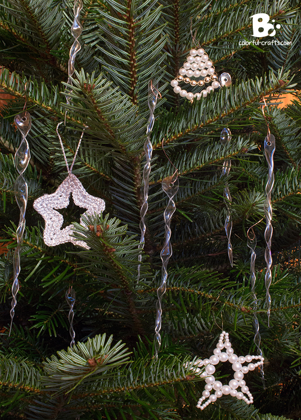 DIY icicle ornaments