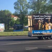 """AfD wurde aufgefordert """"Sklavenmarkt""""-Plakat abzuhängen"""