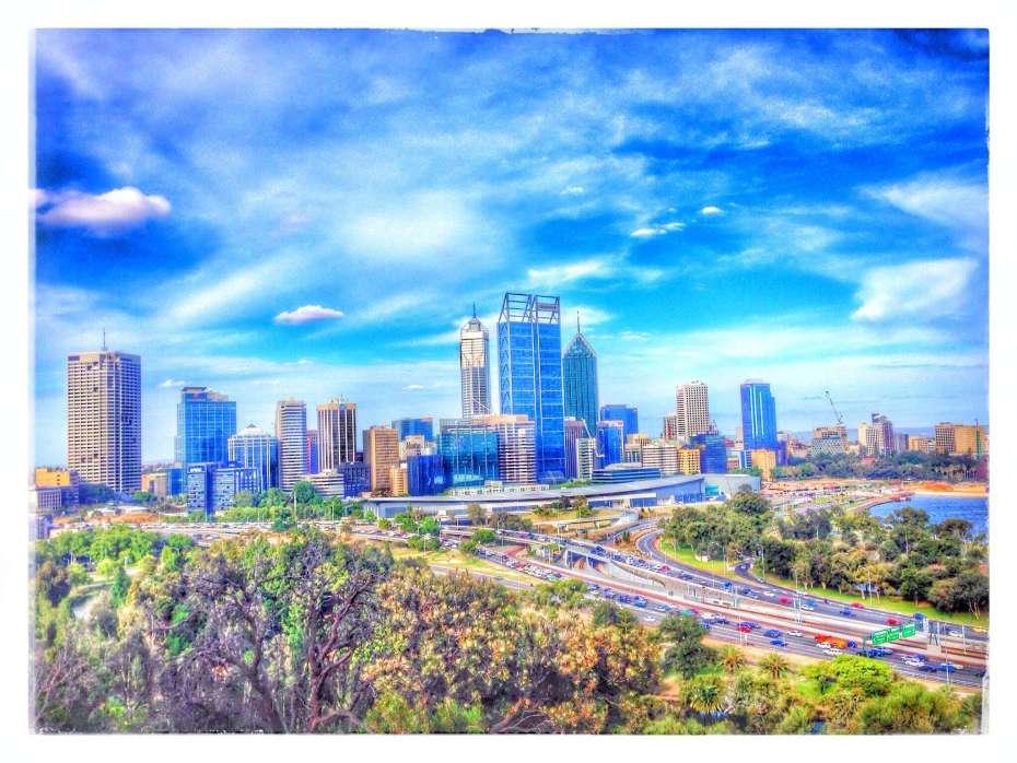 Blick auf Perth aus dem King's Park