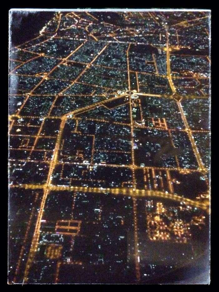 Blick auf Dubai beim Landeanflug