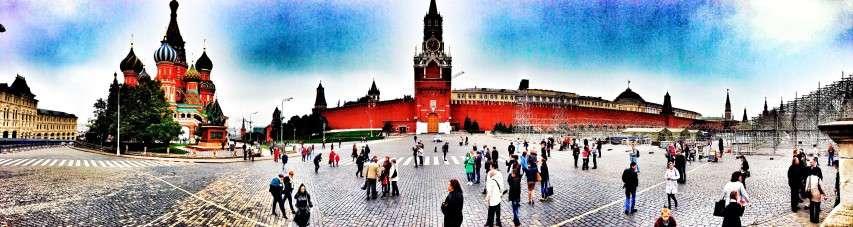 Panorama Roter Platz mit Kathedrale links