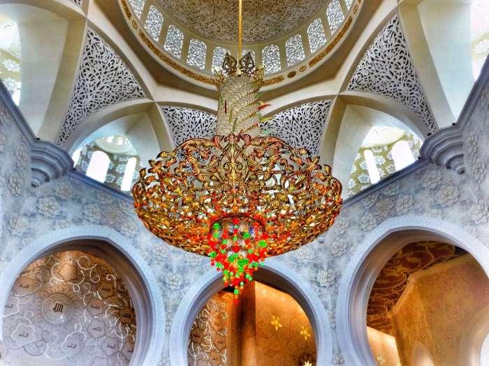 Kronleuchter in Moschee