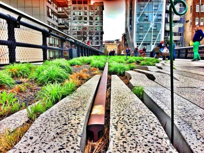 Die High Line in New York ist heute ein Kunst-Areal