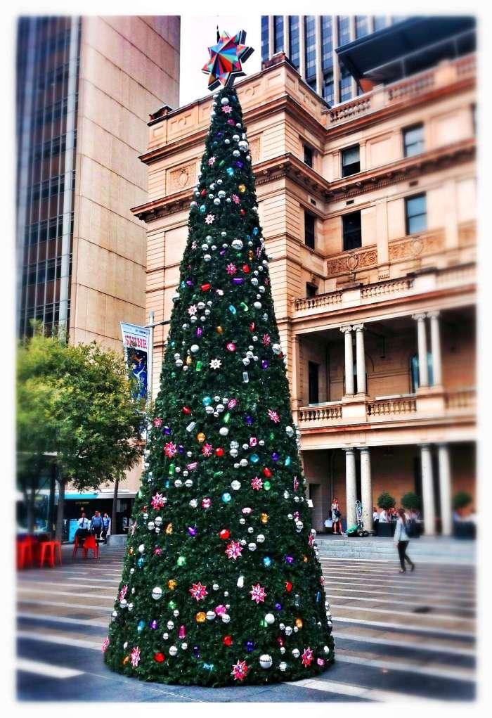 Weihnachtsbaum vor dem Customs House in Sydney