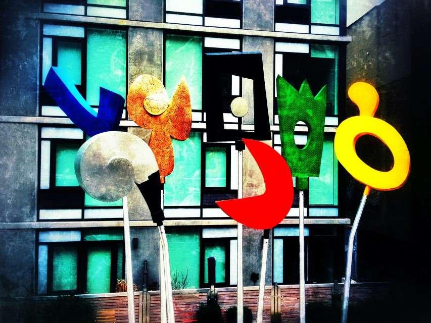 Kunstwerk auf der High Line