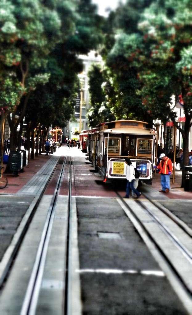 Cable Cars in den Straßen von San Francisco