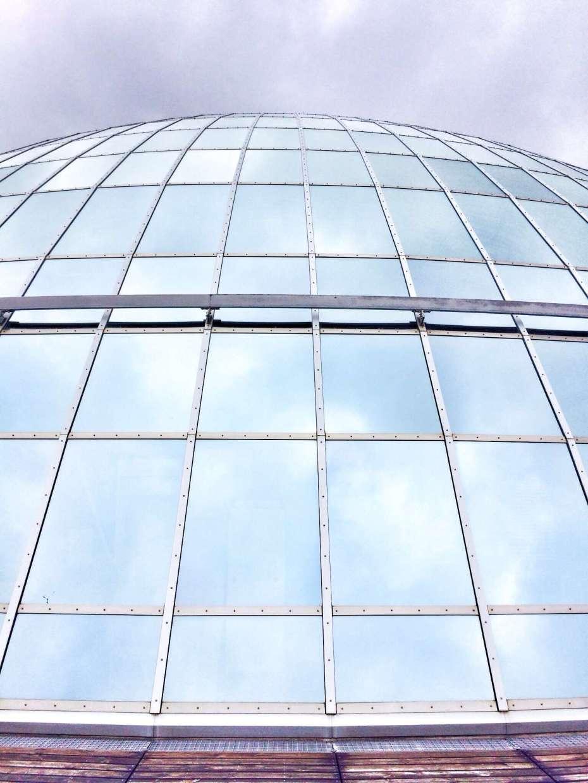 Die Glaskuppel auf dem Perlan