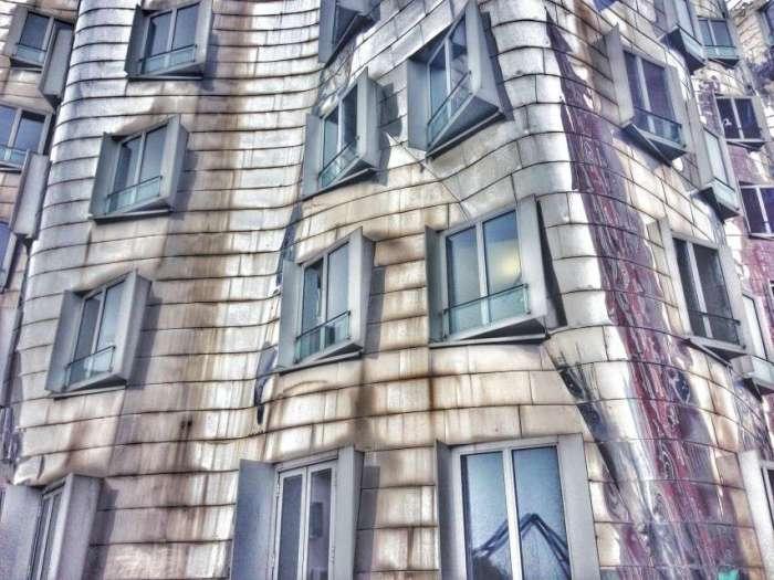 Gehry-Gebäude in Düsseldorf