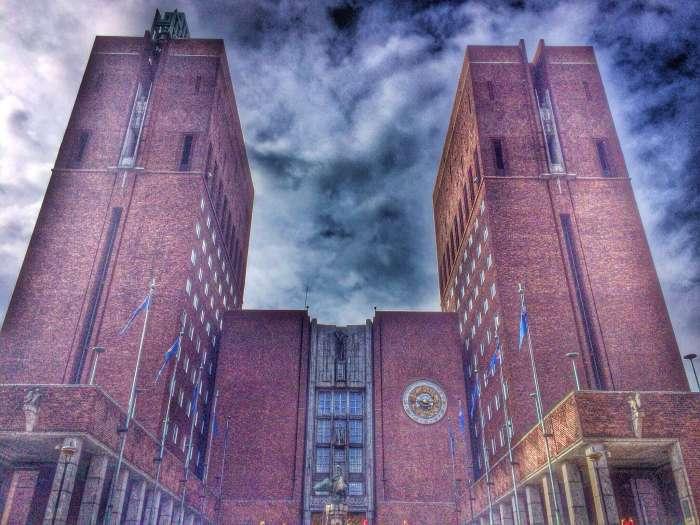 Der Nobelpreis wird im Osloer Rathaus verliehen