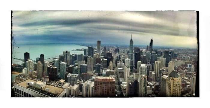 Panorama - aufgenommen vom Hancock-Tower