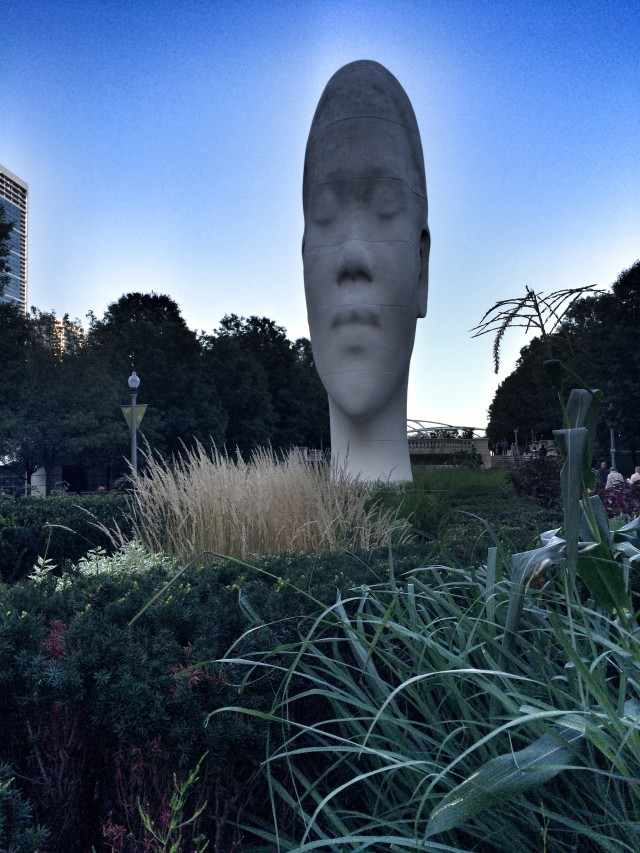 Skulptur im Millennium-Park in Chicago