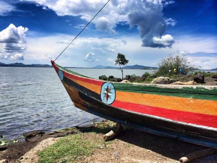 Fischer-Boot am Lake Victoria