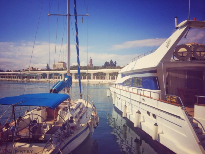 Der Hafen von Malaga