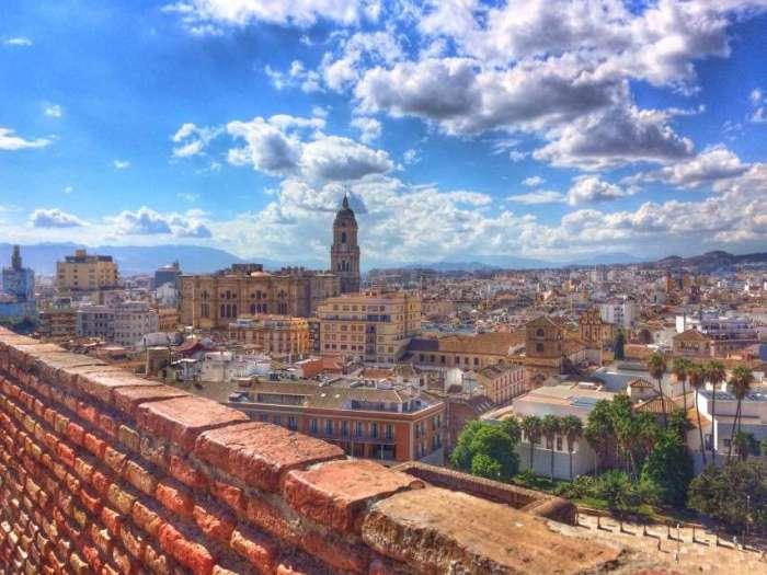 Blick von der Festung auf Malaga