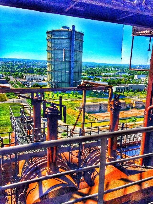 Blick vom Stahlwerk