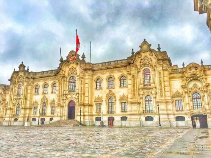 Der Präsidentenpalast in Lima - hier stand Pizarros Palast