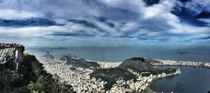 Christus auf dem Berg und der Blick auf Rio de Janeiro