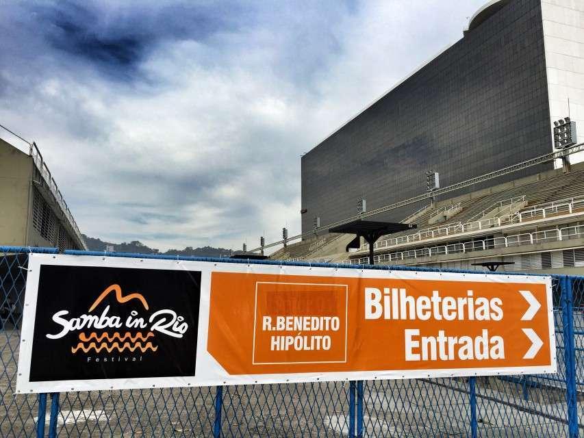 Eingang zum Sambadrom in Rio