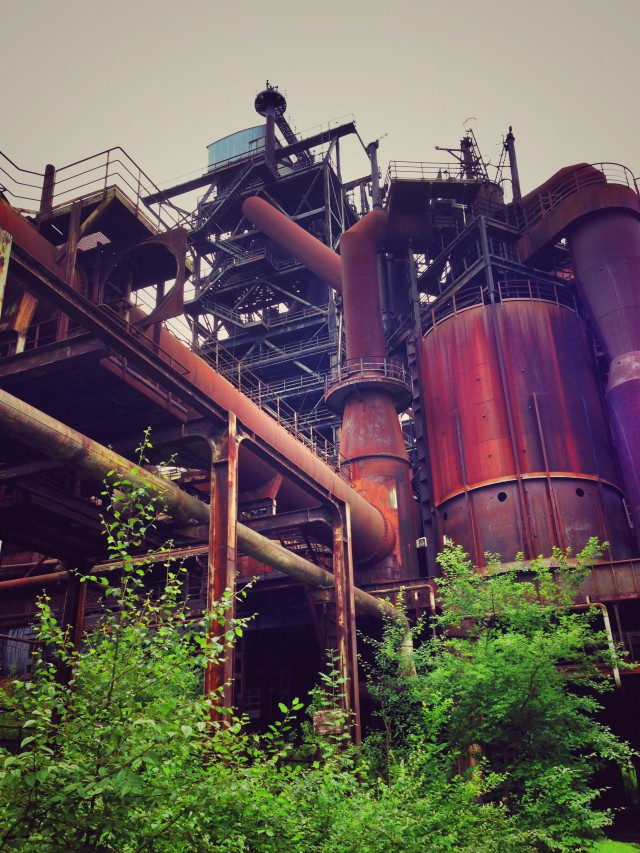 Altes Stahlwerk im Landschaftspark Nord in Duisburg