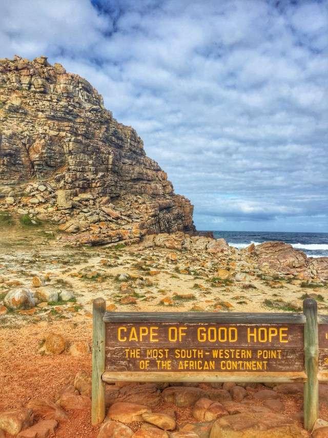 Hinweisschild am Kap der Guten Hoffnung