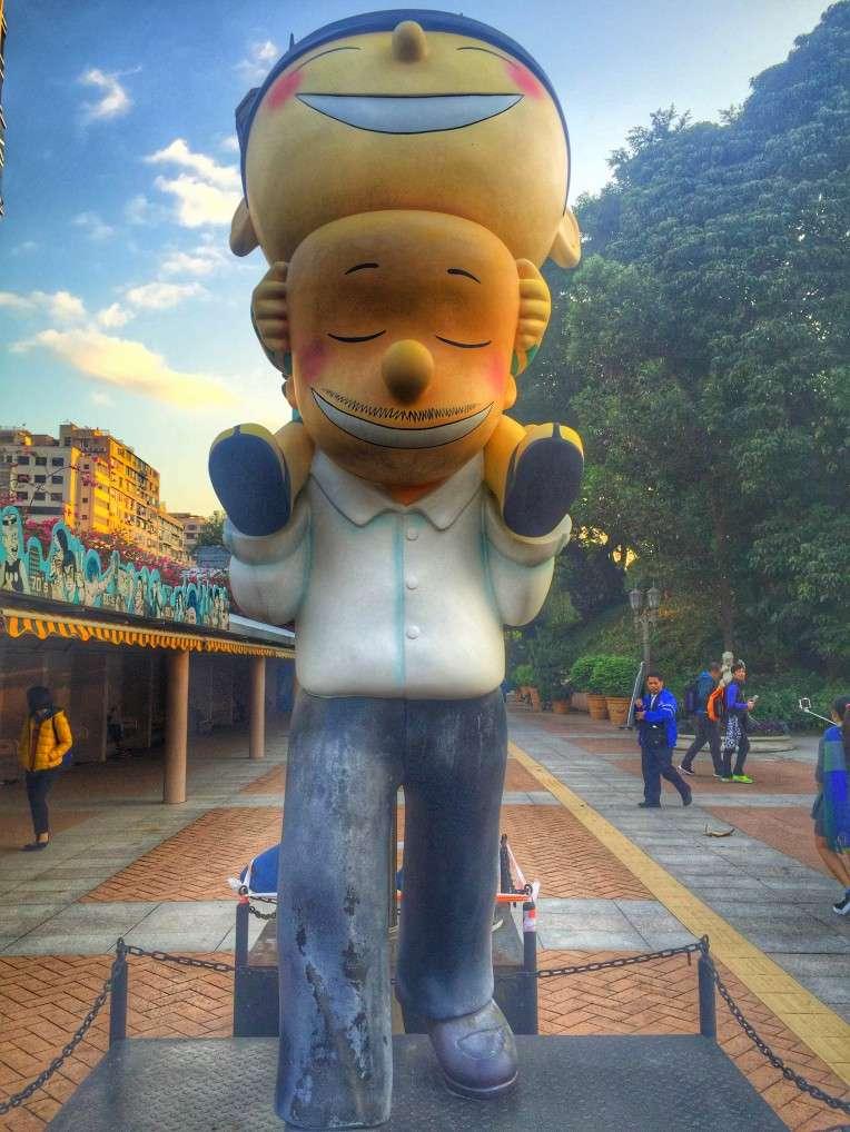 Comicfigur auf der Avenue der Comic Stars im Kowloon Park