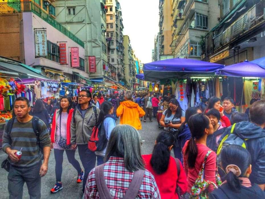 Marktstände in Mong Kok
