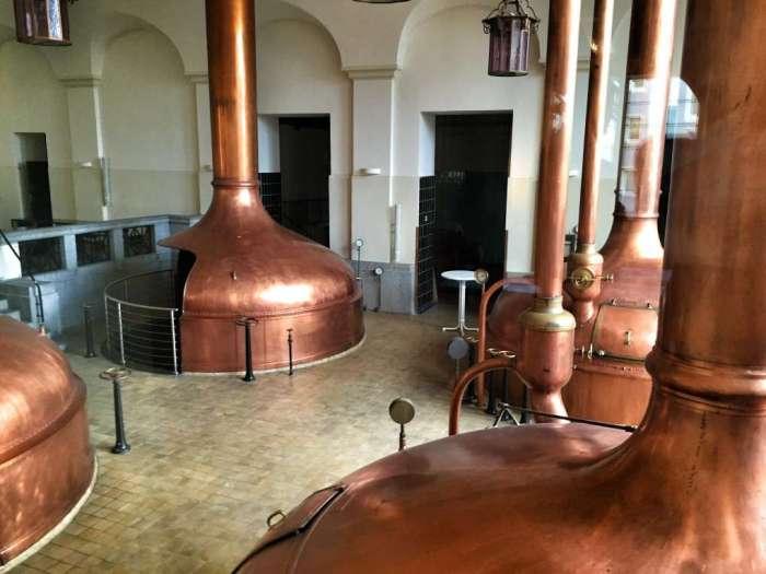 Die alten Braukessel der Hansa-Brauerei