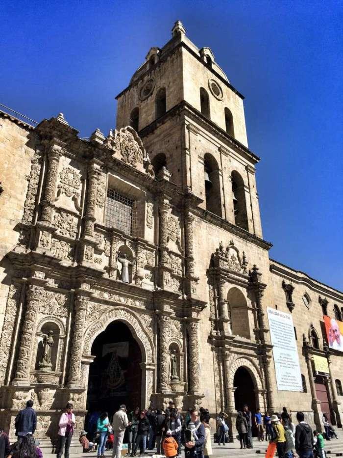 Die Franziskaner-Kirche in La Paz