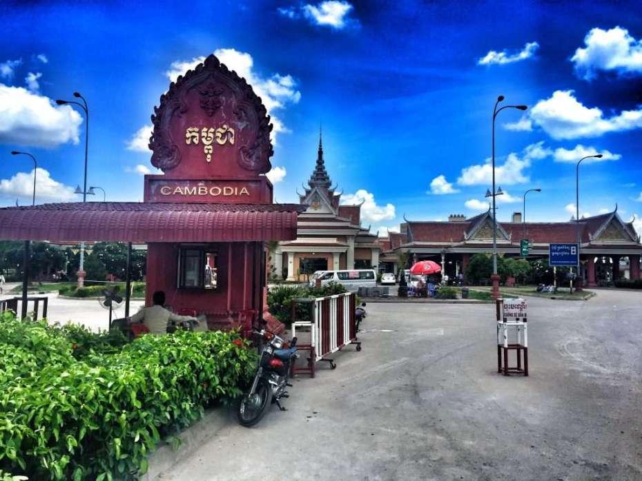 Grenzübergang zwischen Vietnam und Kambodscha