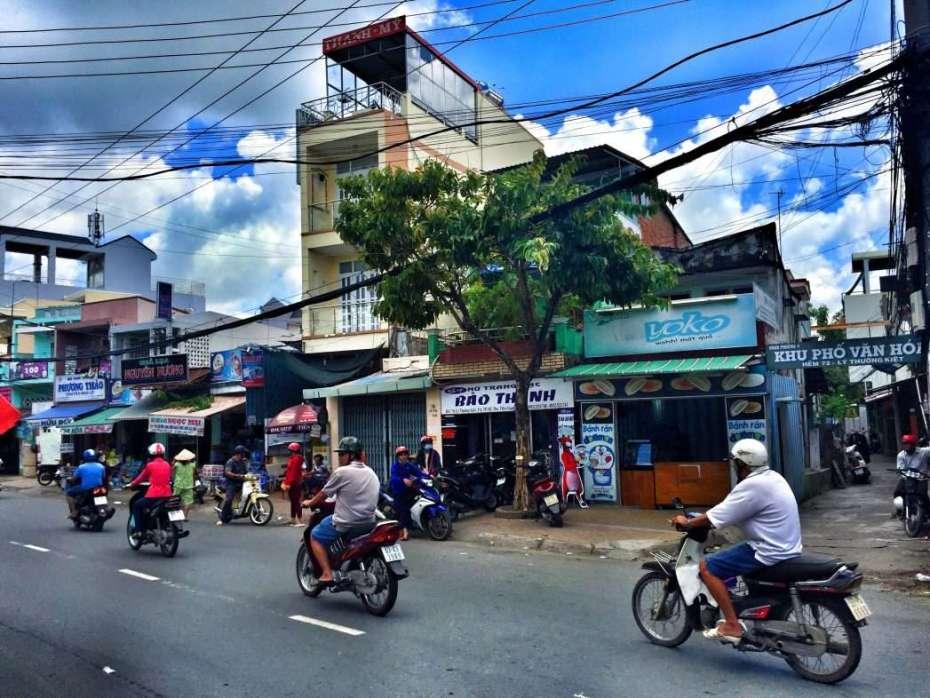 Die meisten Vietnamesen fahren Moped oder Roller