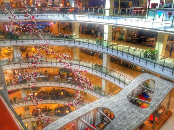 Auf sieben Stockwerken shoppen und essen
