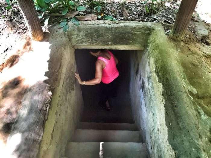 Eingang zum für Touristen ausgebauten Tunnel