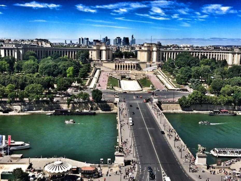 Seine mit Palais de Chaillot/Trocadero