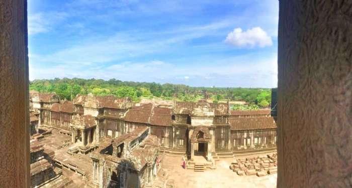 Blick in die Tempelanlage
