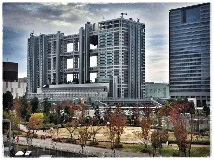 Fuji-TV-Gebäude, oben: Kugel mit Restaurant