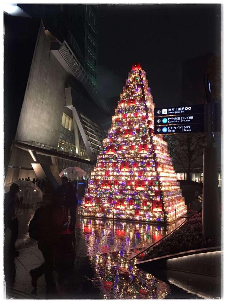 Weihnachtsbaum am Einkaufszentrum Roppongi Hills