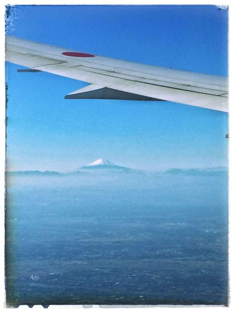 Aus dem Flugzeug ist der Fuji gut zu sehen