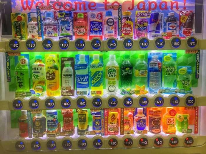 Große Auswahl im Getränkeautomaten