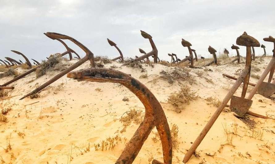Die Praia do Barril an der Algarve
