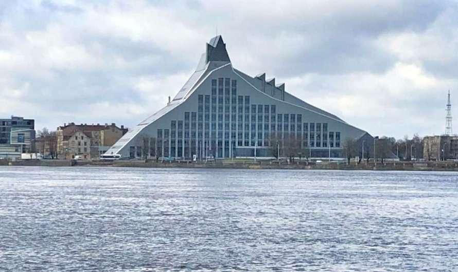 Die lettische Nationalbibliothek in Riga