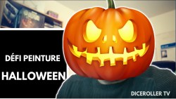Défi de peinture d'Halloween